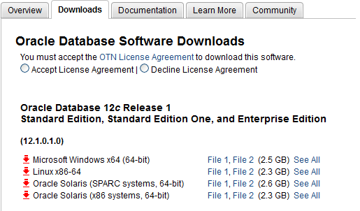 Oracle Database 12.1.0.1.0
